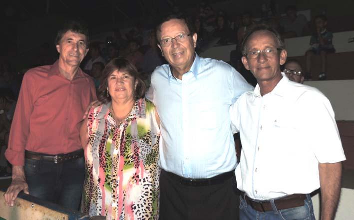 Prefeitos de Taquaral Laercio, de Taiaçu Sulei, Deputado Sinval Malheiros e prefeito de Pirangi Luizinho